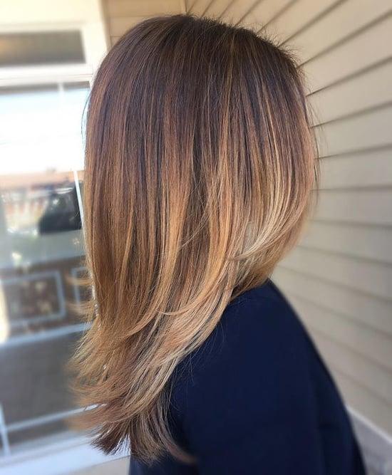 Стрижка на длинные волосы с окрашиванием