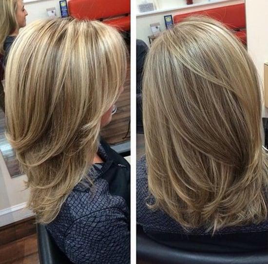 стильная градуированная стрижка для средних волос