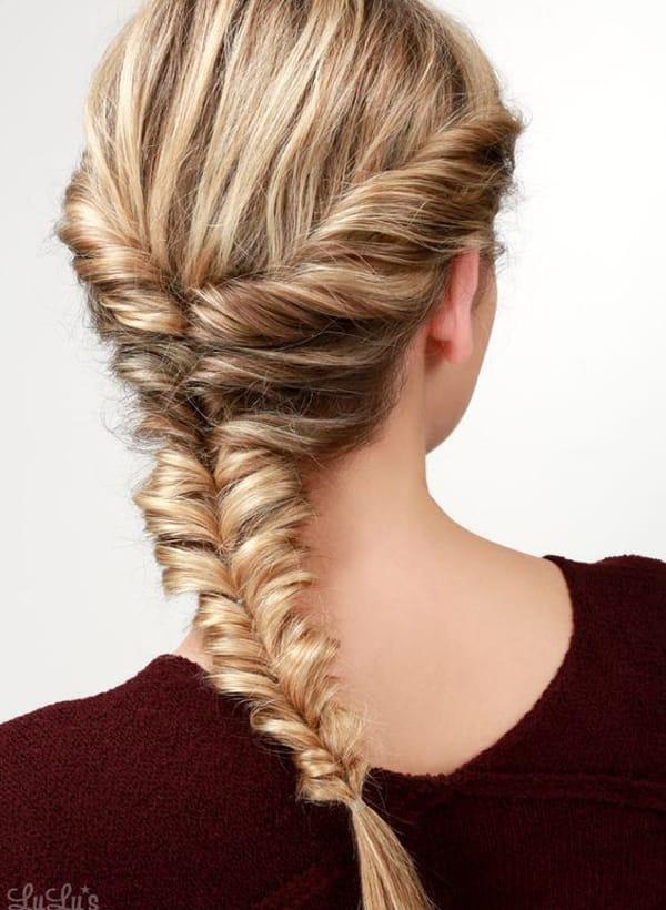колосок для средних волос