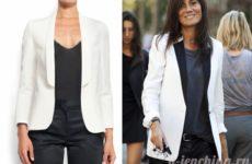 С чем носить белый пиджак: фото подборка