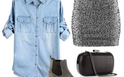 С чем носить джинсовую рубашку: идеи и фото