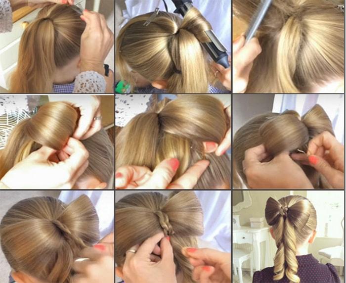 Как сделать бантик для волос фото 96