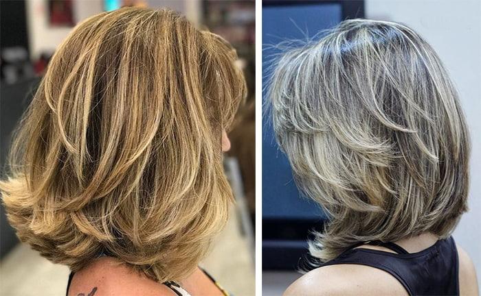Стрижка каскад на средние волосы: фото