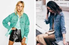 С чем носить джинсовую куртку: оверсайз, цветная, с вышивкой