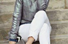 С чем носить белые джинсы: фото подборка