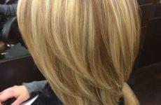 Стрижка каре с мелированием и мелирование на средние волосы: фото
