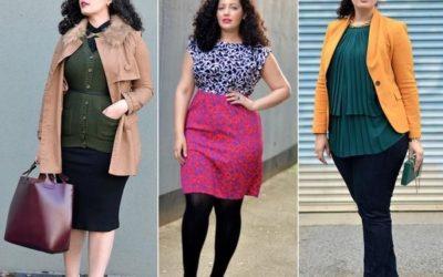 Мода для полных женщин: как скрыть лишний вес — фото подборка
