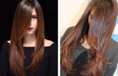 Стильная стрижка лесенка на длинные и средние волосы (фото)