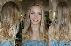 Калифорнийское мелирование на русые волосы фото
