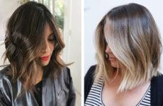 Омбре на каре: на темные и русые волосы (фото)