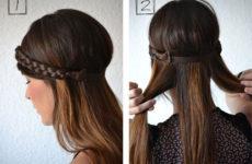 Как сделать стильную прическу с повязкой — фото урок