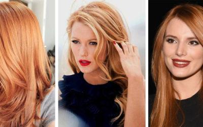 Рыжий цвет волос: оттенки и кому он идет (фото)