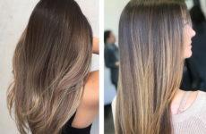 Окрашивание балаяж: ленивая техника на темные и светлые волосы