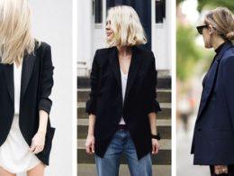 черный пиджак с чем носить