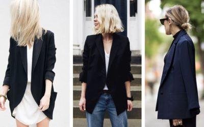 С чем носить черный пиджак: фото обзор