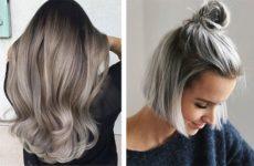 Пепельный цвет волос: фото оттенков