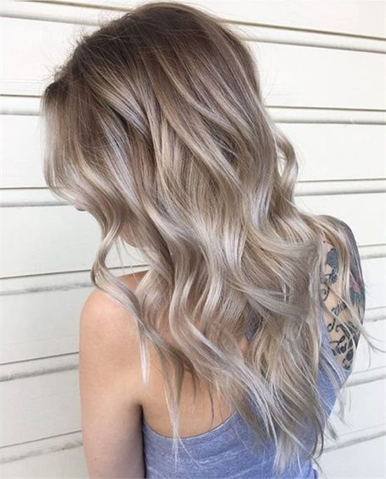 Цвет волос пепельно-жемчужный