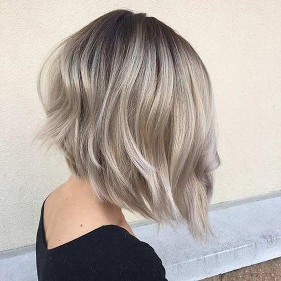 Цвет волос на каре пепельный