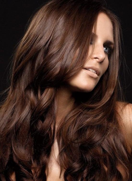 Светло-шоколадный цвет волос