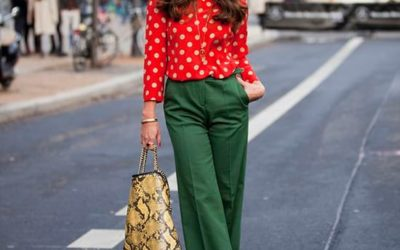Зеленые брюки: с чем носить (фото)