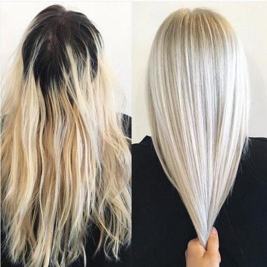 как покраситься в платиновый блонд