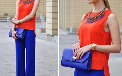 С чем носить синие женские брюки: на работу и на отдыхе — 30 фото