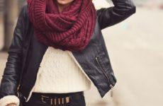 Как носить снуд — шарф хомут: фото подборка