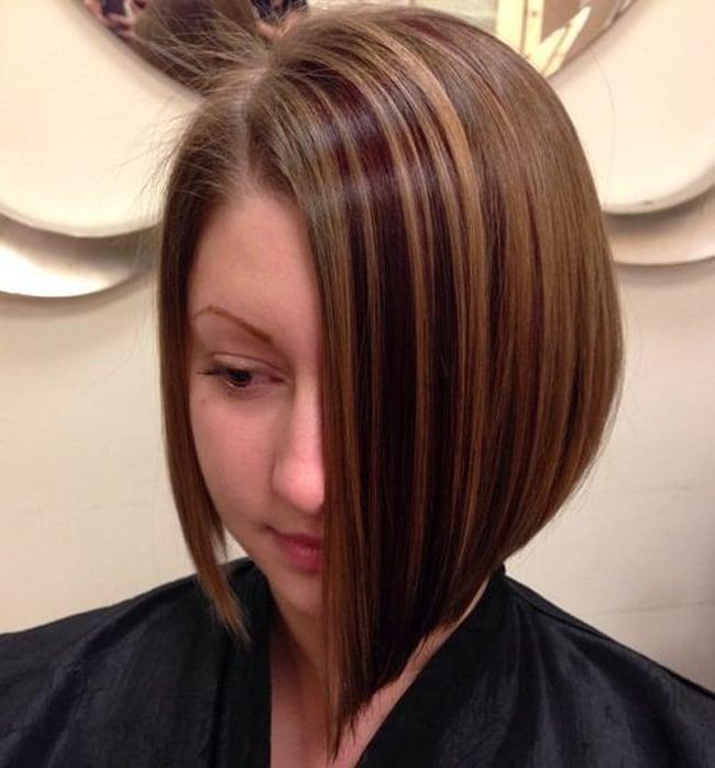 ассиметричное каре на тонкие волосы