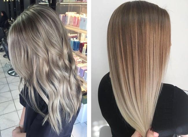 балаяж для светло-русых волос