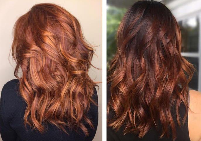 Медный цвет волос: светлые и темные оттенки и кому идет (фото)