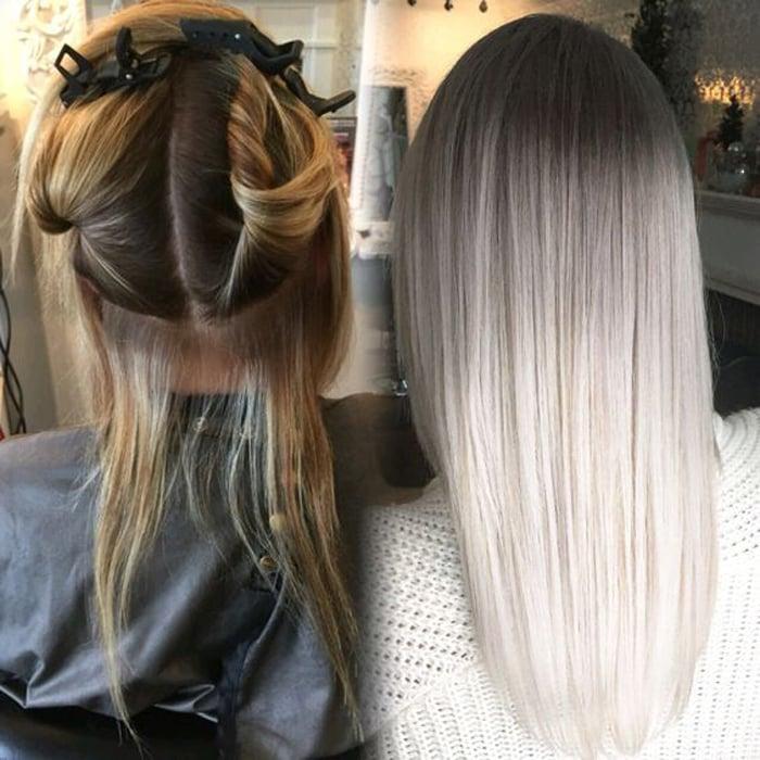 как добиться пепельного цвета на темных волосах
