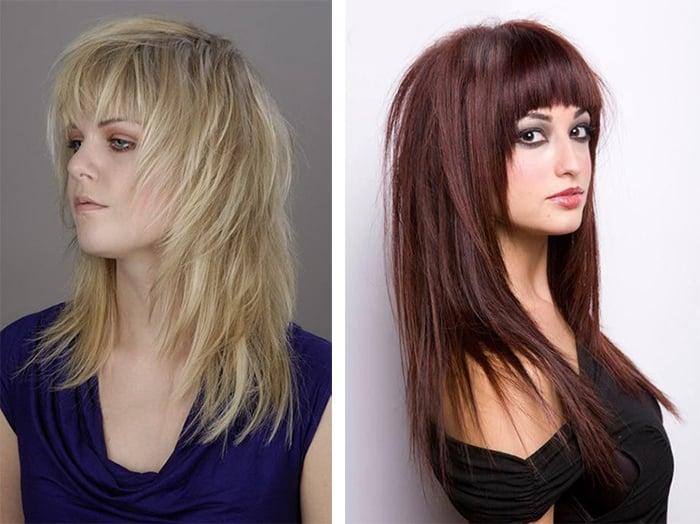 модная стрижка Аврора для длинных волос