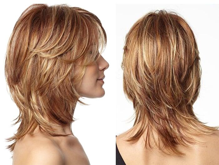 Аврора на средних волосах