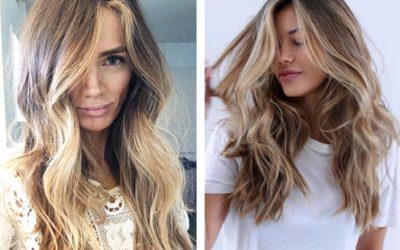 Эффект выгоревших волос на русые и темные волосы