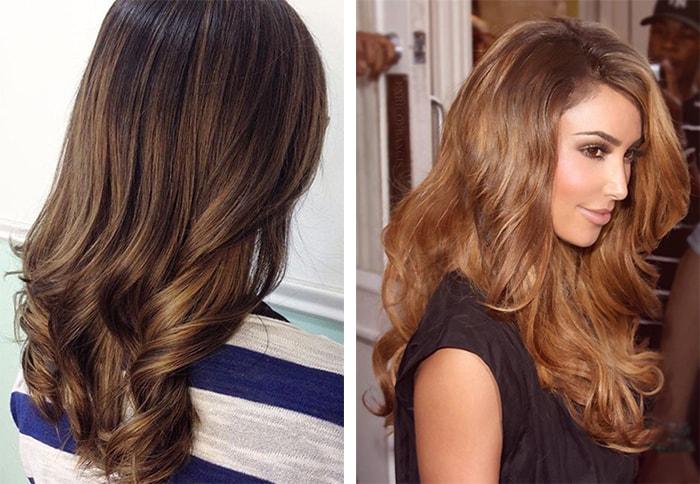 золотисто каштановый цвет волос