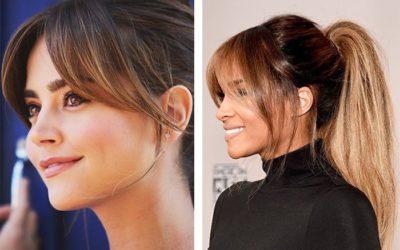 Челка для круглого лица — на средние, длинные и короткие волосы (фото)