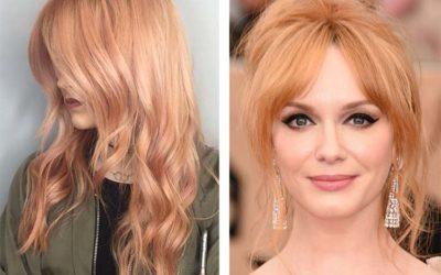Персиковый цвет волос — кому идет оттенок (фото)