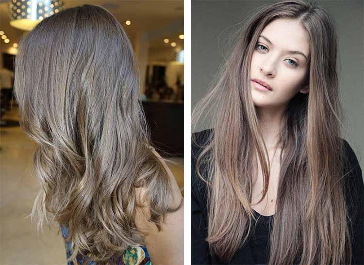 Темно-русый цвет волос – фото вариантов окрашивания