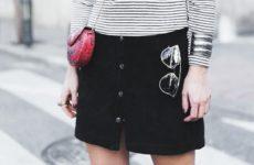 С чем носить замшевую юбку (фото)