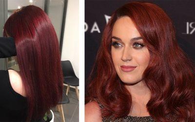 Бордовый цвет волос — бургунди и махагон