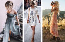 Платье в стиле бохо — богемный шик (фото)