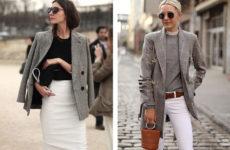 Стильный пиджак в клетку: с чем его носить (фото)