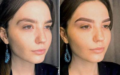 Окрашивание бровей хной: фото До и После