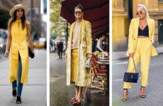 Желтый цвет: хит осени 2018 — как его носить