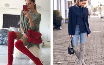С чем носить ботфорты — 30 ярких примеров (фото)