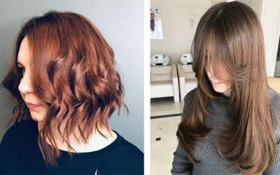 Модное окрашивание волос 2019: airtouch, рельефное, двойное