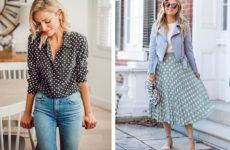 Мода в горошек:  как носить вещи в горох — тренд 2019