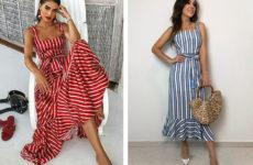Платья в полоску — модный трен 2019 (фото)