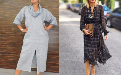 Стильные платья для зрелых женщин — 40 вариантов