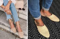 Плетеная обувь — летний хит 2019